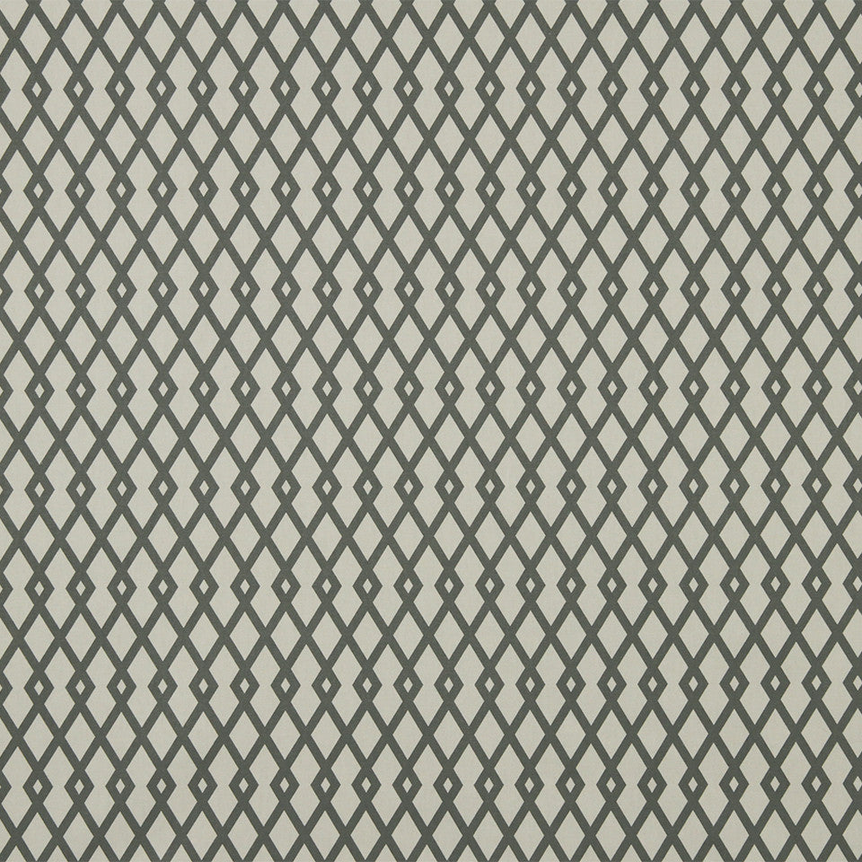 COLOR LIBRARY MULTI-PURPOSE: GLACIER-PEWTER-DRIFTWOOD Graphic Fret Fabric - Greystone