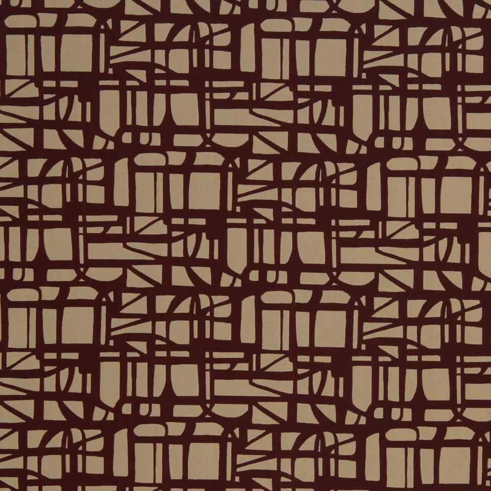 ECLECTIC Gridded Maze Fabric - Ember