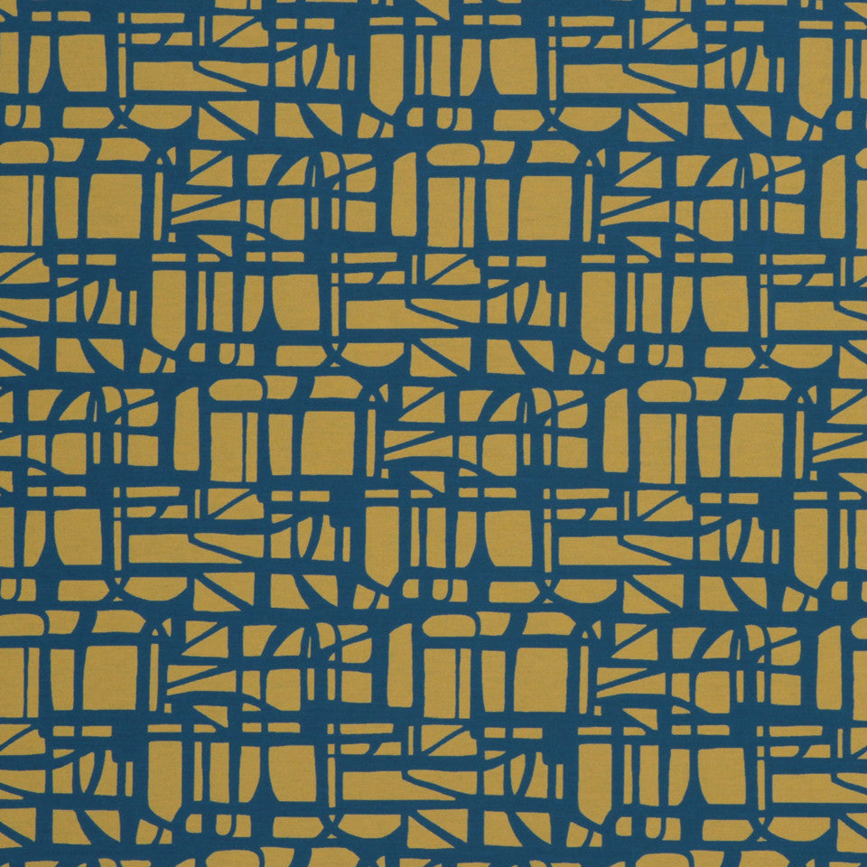 ECLECTIC Gridded Maze Fabric - Abyss