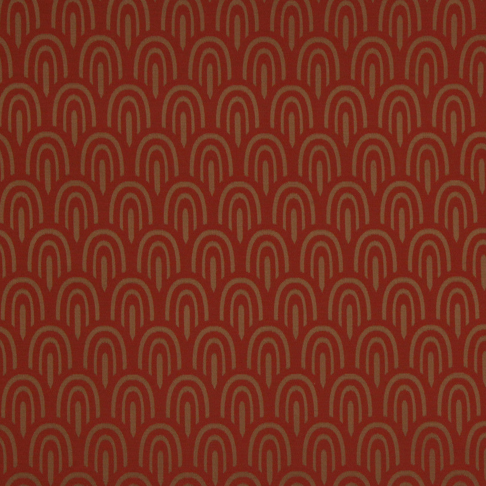 ECLECTIC Swoops Fabric - Spice