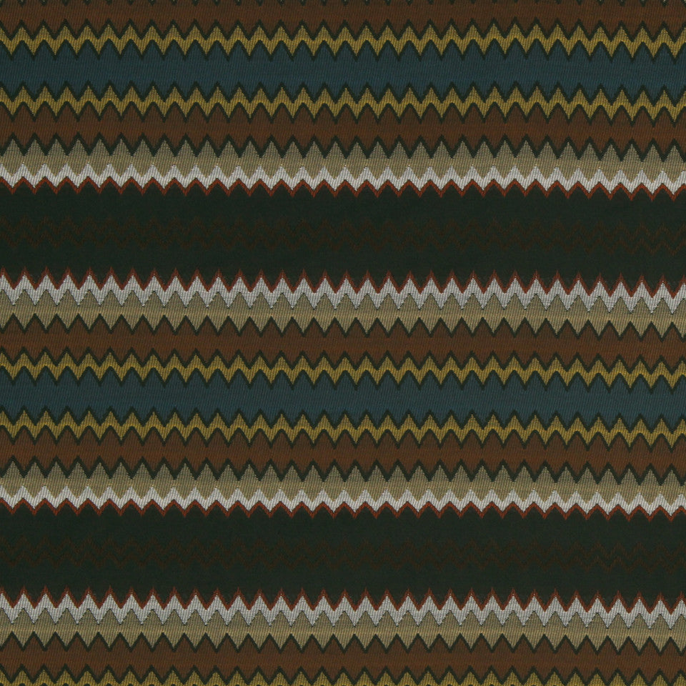 ECLECTIC Jagged Edge Fabric - Lagoon