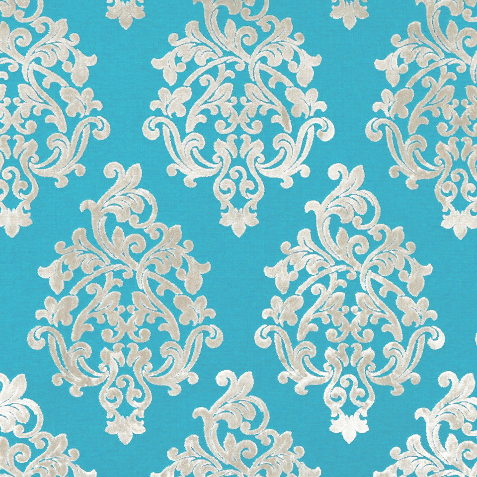 TURQUOISE Royal Beauty Fabric - Turquoise