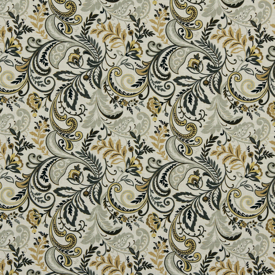 GOLDEN-MAIZE-HONEYSUCKLE Forever Flora Fabric - Golden