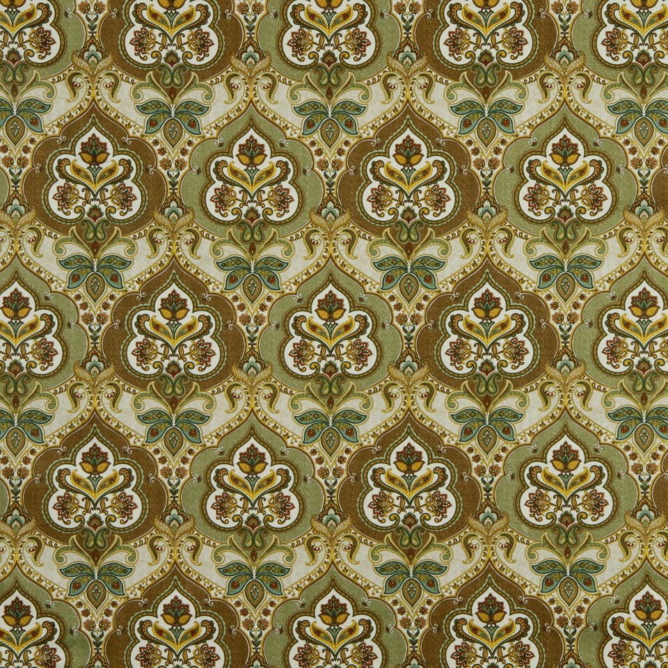 GOLDEN-MAIZE-HONEYSUCKLE Union Park Fabric - Golden