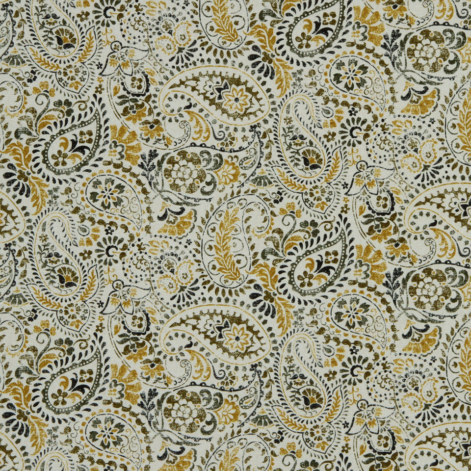 GOLDEN-MAIZE-HONEYSUCKLE Porter Square Fabric - Golden