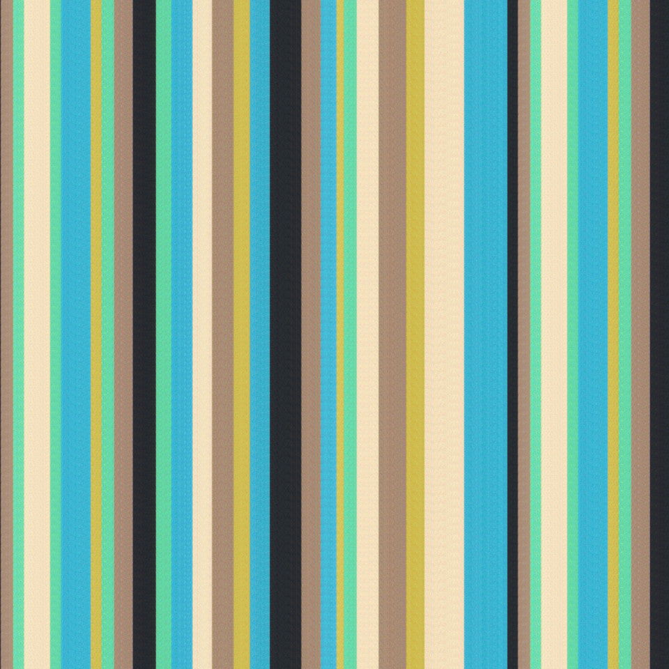 TURQUOISE Eos Stripe Fabric - Turquoise