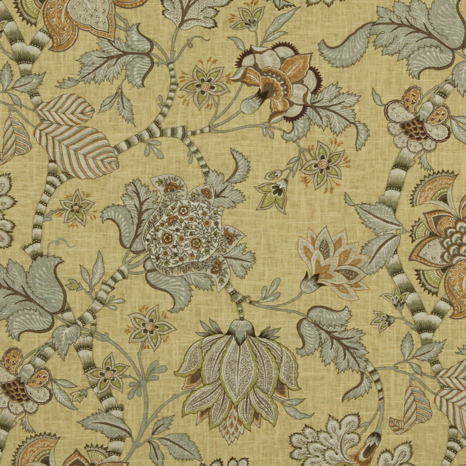 GOLDEN-MAIZE-HONEYSUCKLE Peggys Cove Fabric - Maize