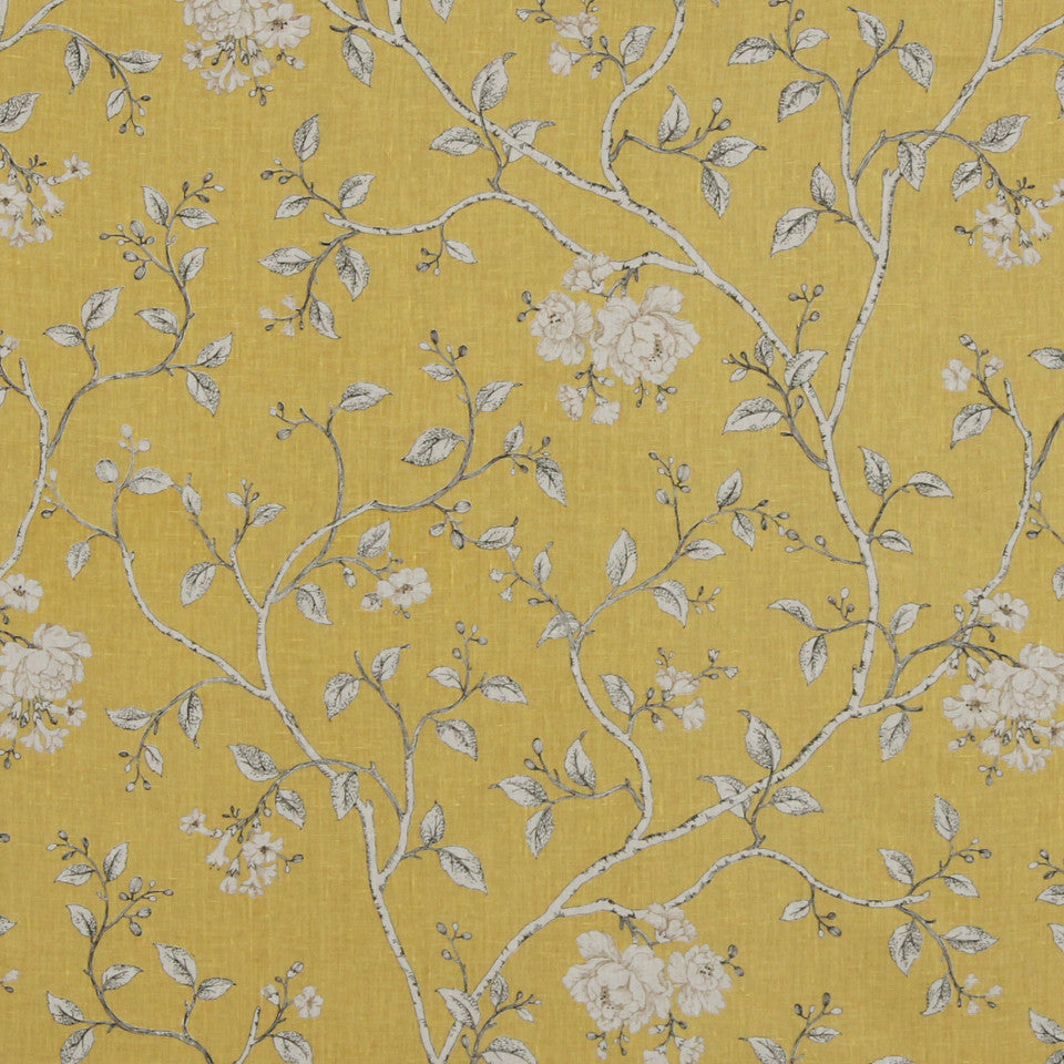 GOLDEN-MAIZE-HONEYSUCKLE Asami Fabric - Honeysuckle