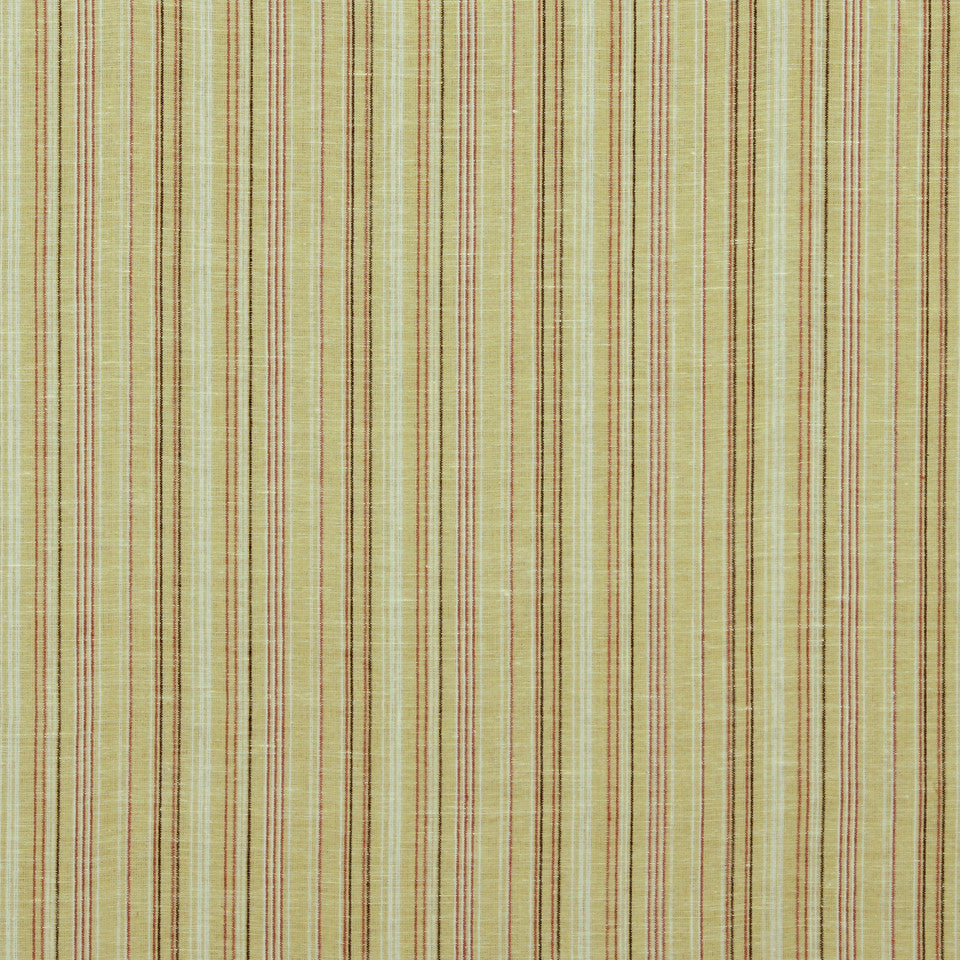 GOLDEN-MAIZE-HONEYSUCKLE Cool Stripes Fabric - Maize