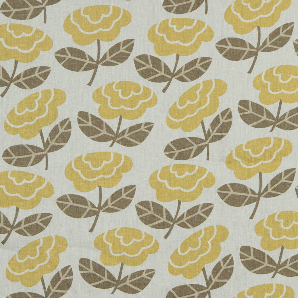 GOLDEN-MAIZE-HONEYSUCKLE Country Summer Fabric - Honeysuckle