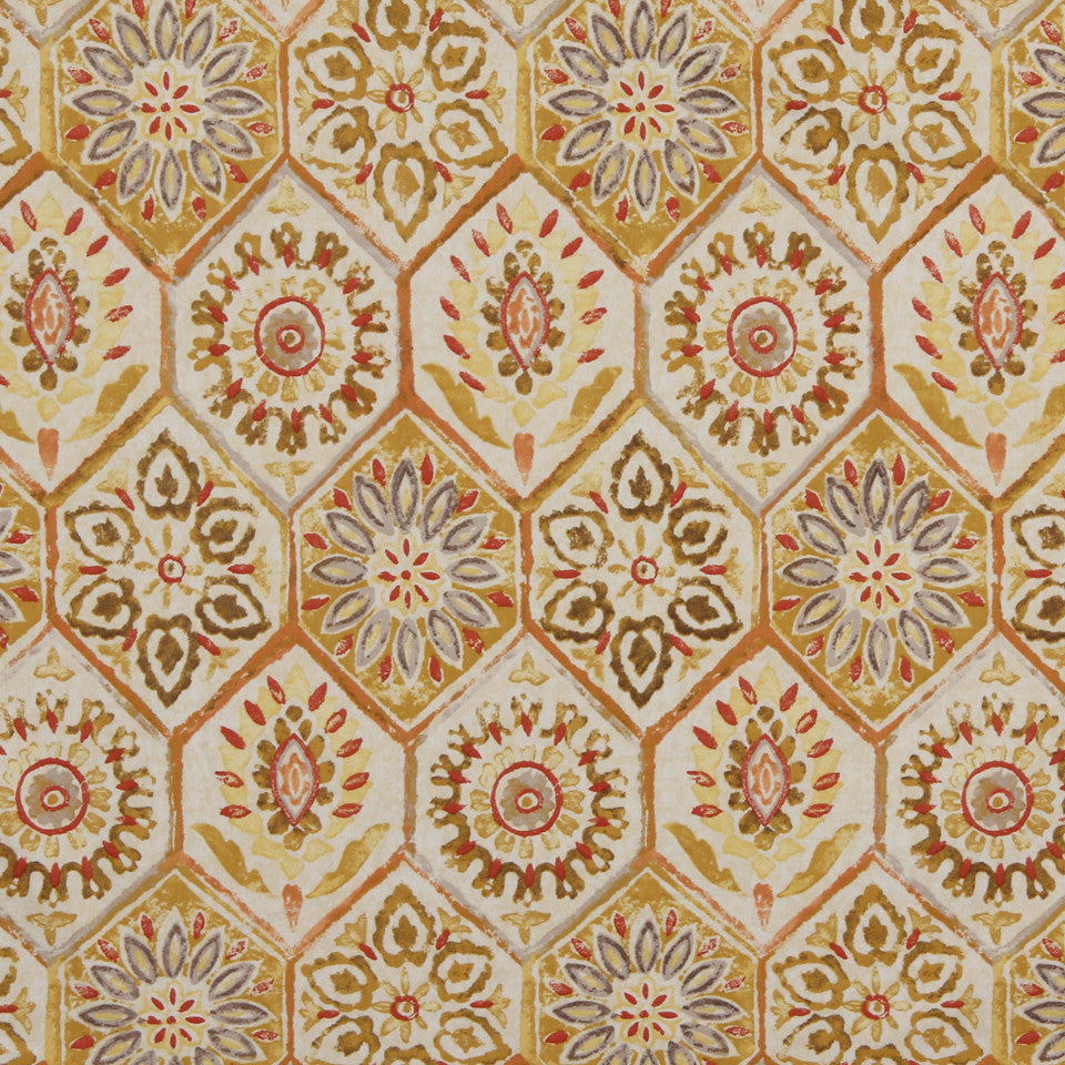 GOLDEN-MAIZE-HONEYSUCKLE Corte Madera Fabric - Maize