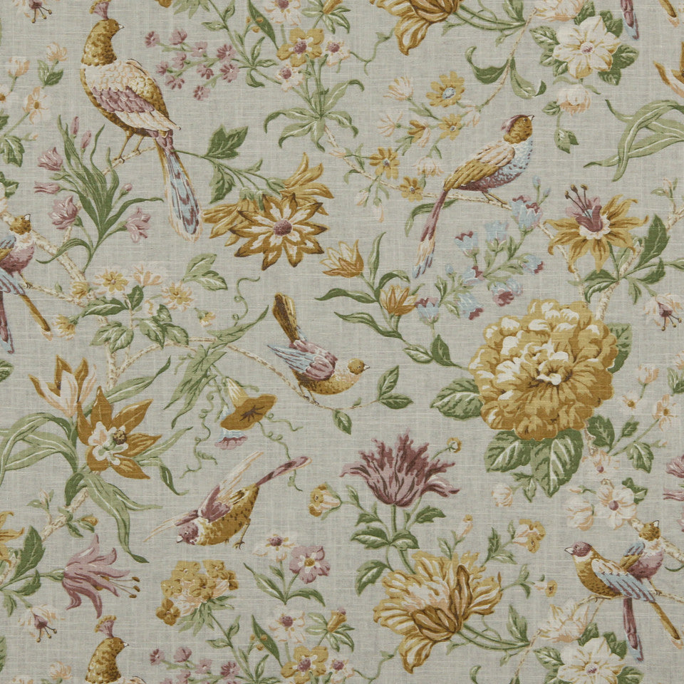 GOLDEN-MAIZE-HONEYSUCKLE Always Summer Fabric - Maize