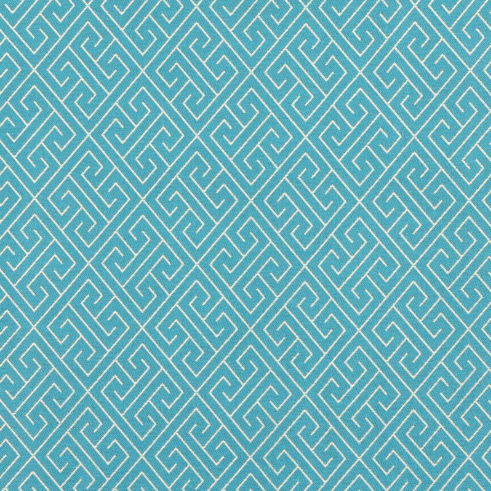 TURQUOISE Endless Paths Fabric - Turquoise