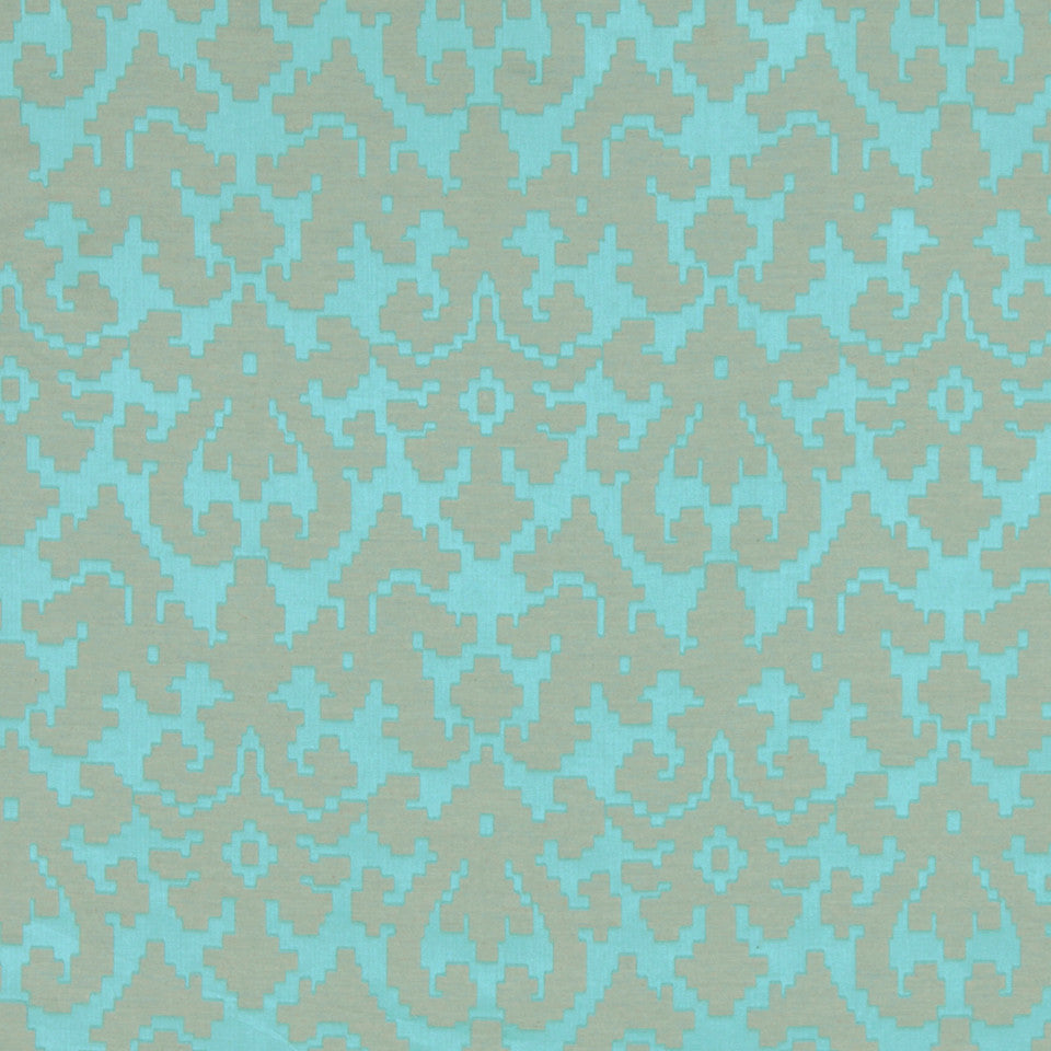 TURQUOISE Puzzle Play Fabric - Turquoise