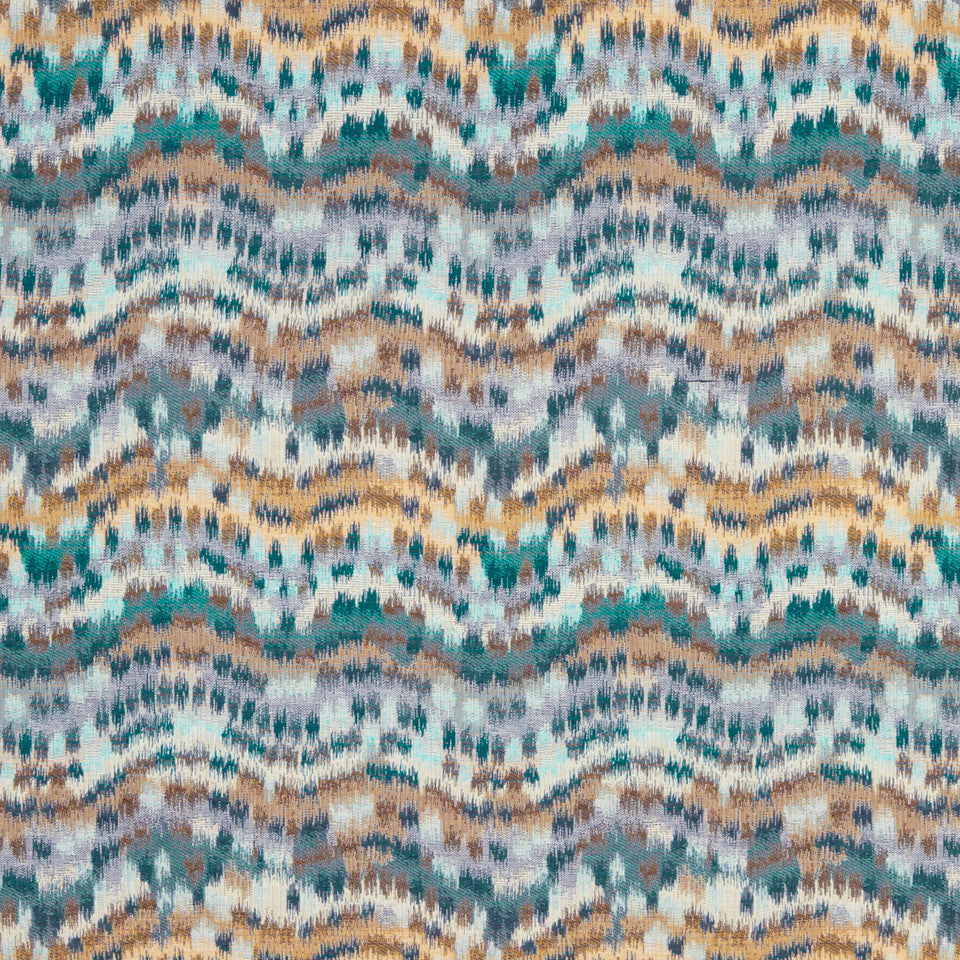 TURQUOISE Distant Dawn Fabric - Turquoise