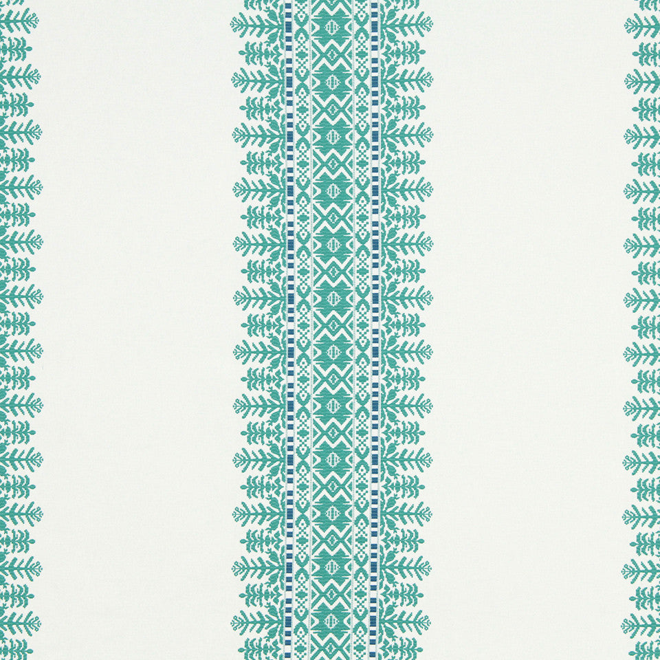 VIRIDIAN Aztec City Fabric - Viridian