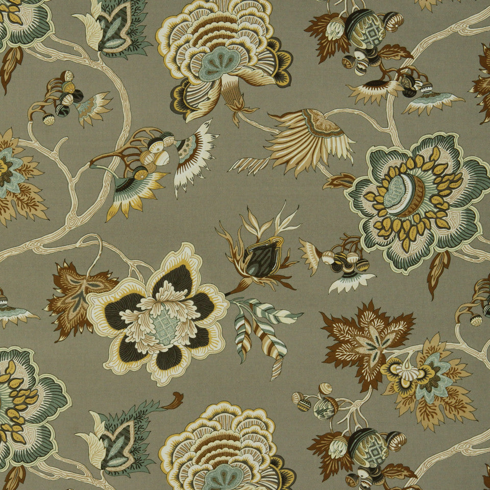 GOLDEN-MAIZE-HONEYSUCKLE Autumn Valley Fabric - Golden