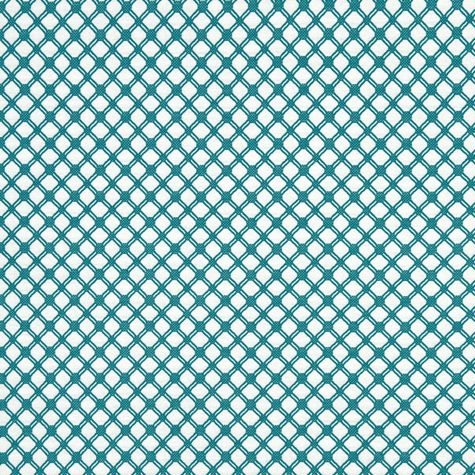 TURQUOISE Hares Hill Fabric - Turquoise