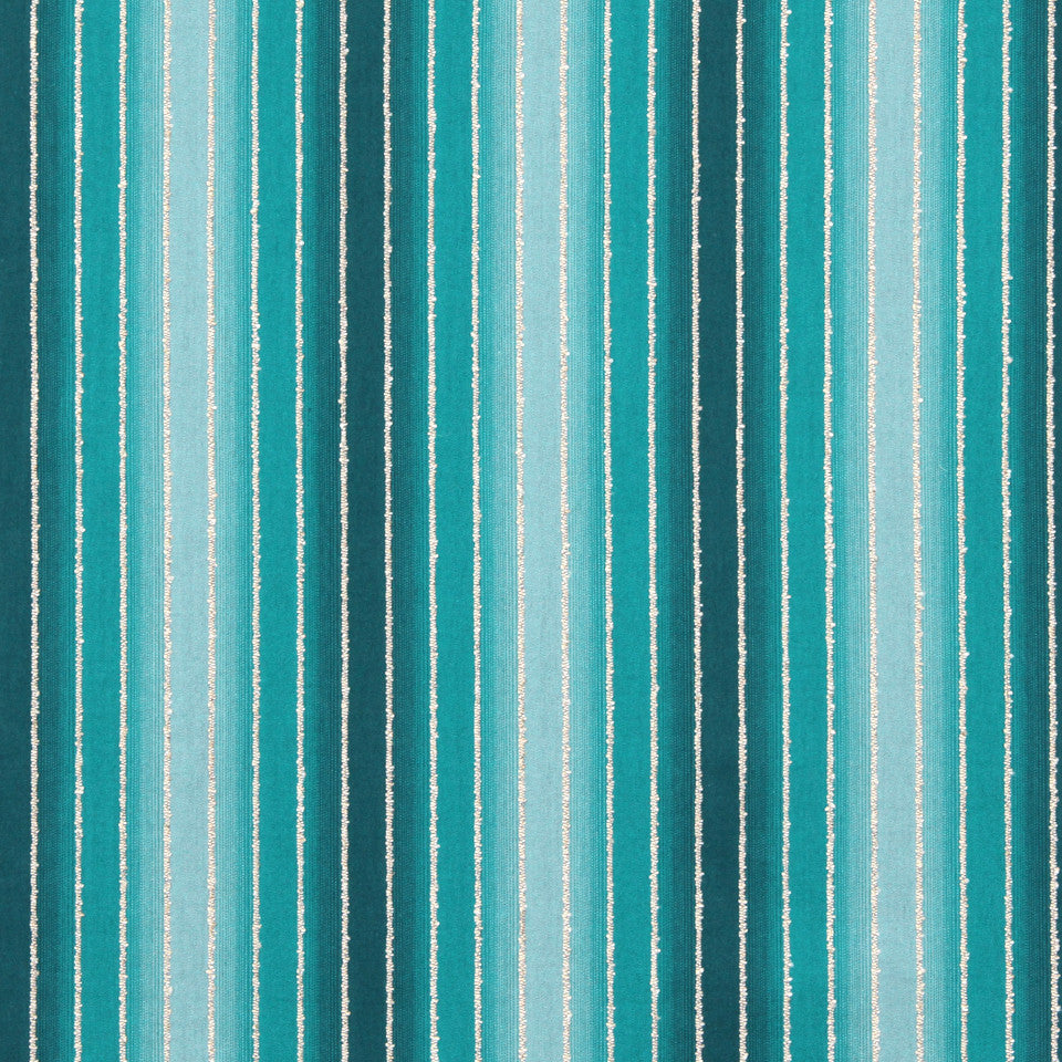 TURQUOISE Tie Dye Stripe Fabric - Turquoise