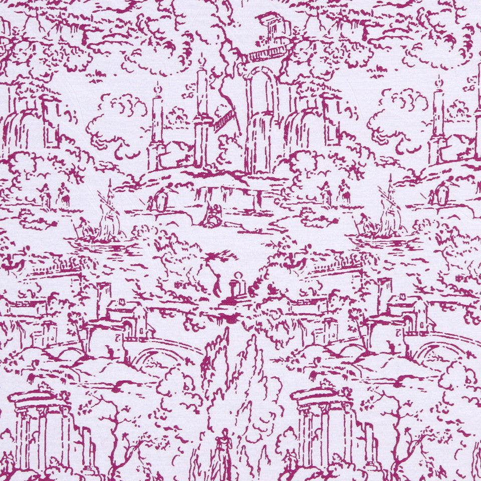 FUCHSIA Meeting Place Fabric - Fuchsia