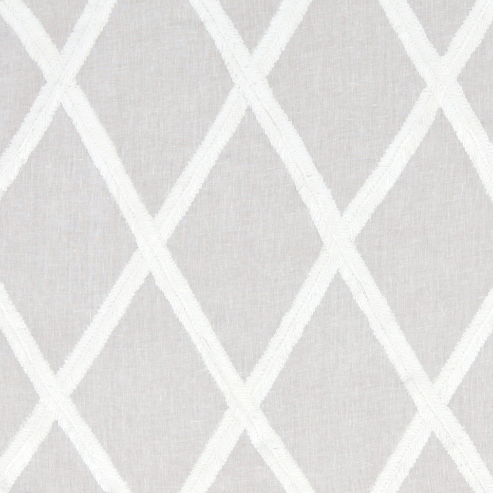 Ribbon Lattice Fabric - White