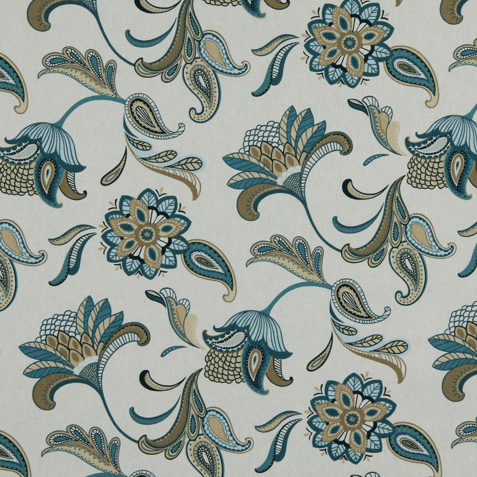 LAGOON-COVE-ALOE Grand Spray Fabric - Lagoon