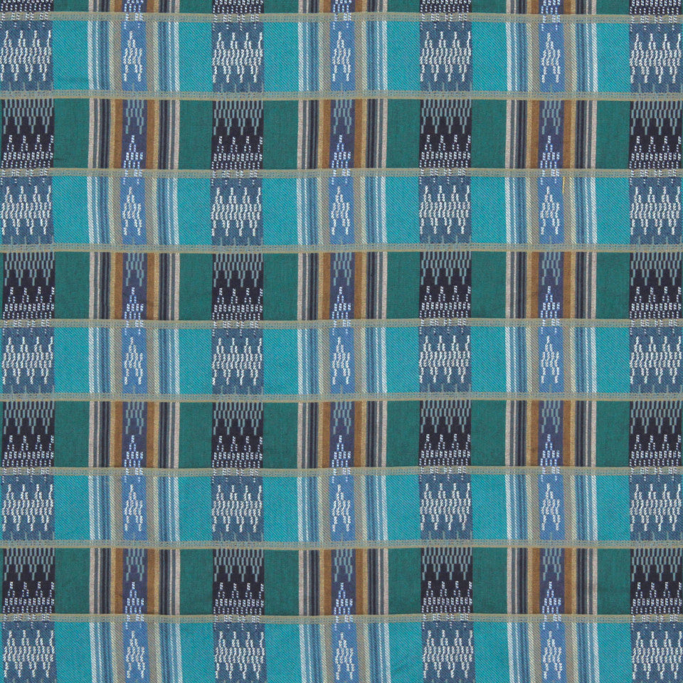 TURQUOISE Steeple Bay Fabric - Turquoise