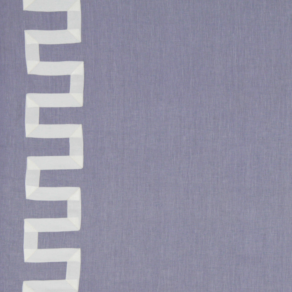 LINEN EMBROIDERY AND APPLIQUES Grosgrain Key Fabric - Lavender
