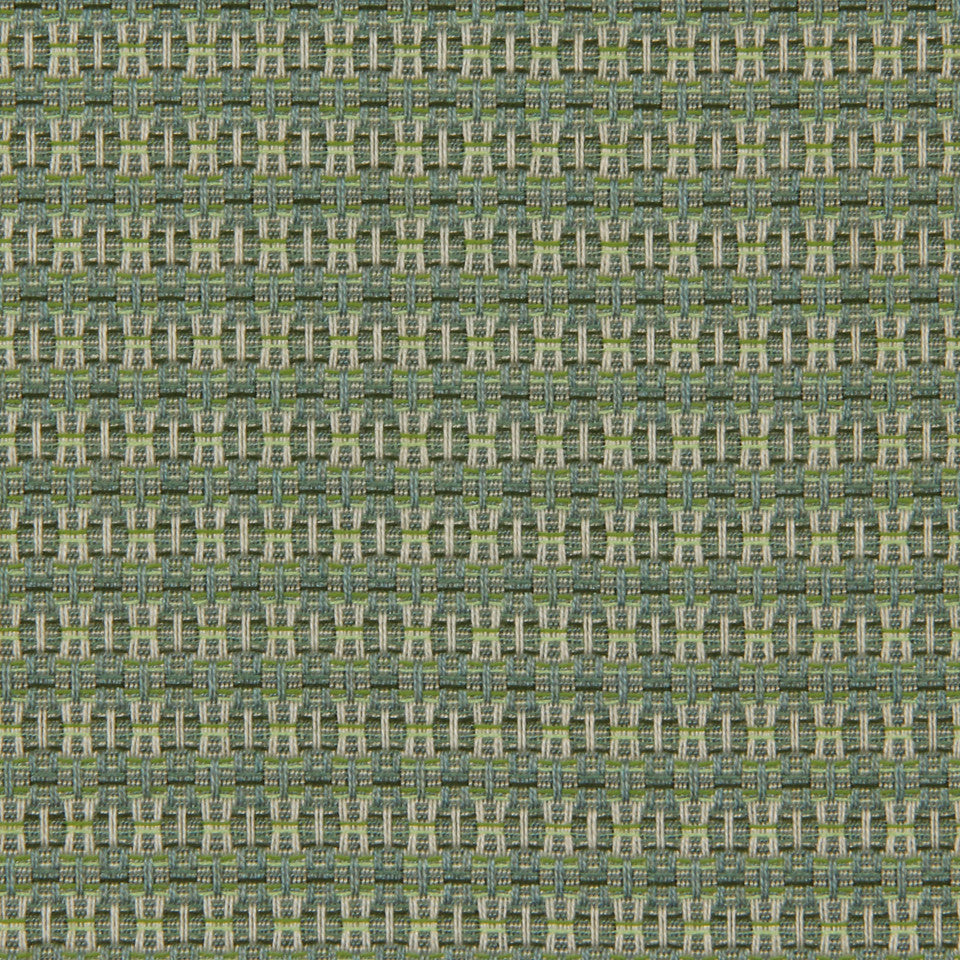 DWELLSTUDIO MODERN BUNGALOW Locking Dots Fabric - Lime