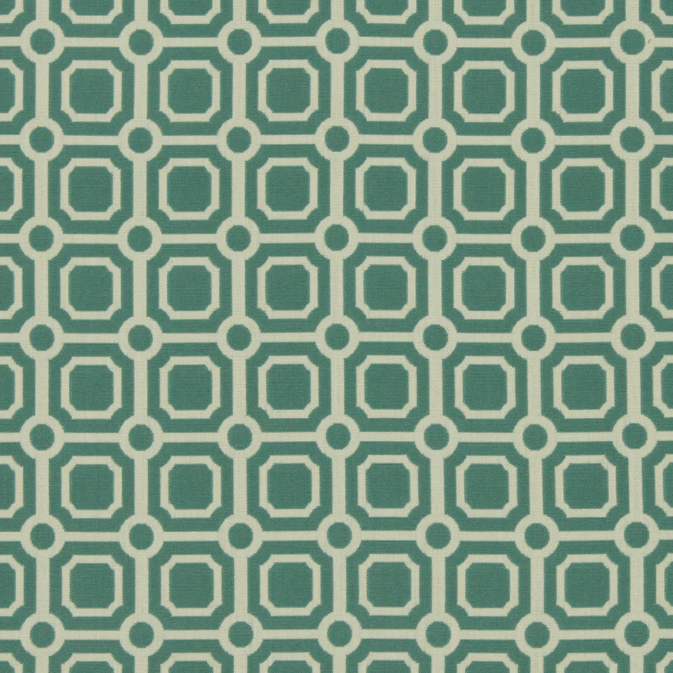 DWELLSTUDIO MODERN BUNGALOW Palm Canyon Fabric - Turquoise