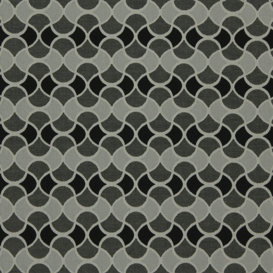 DWELLSTUDIO MODERN BUNGALOW Carrington Fabric - Jet