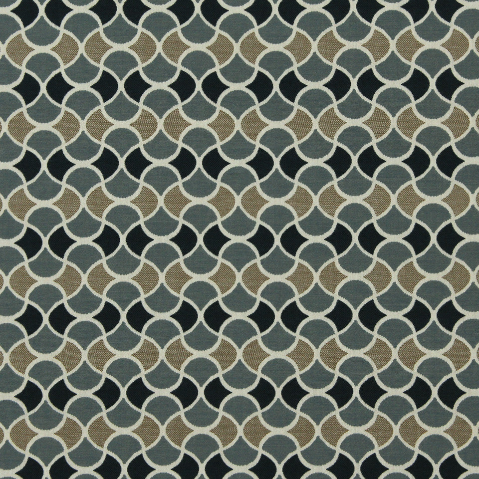 DWELLSTUDIO MODERN BUNGALOW Carrington Fabric - Navy