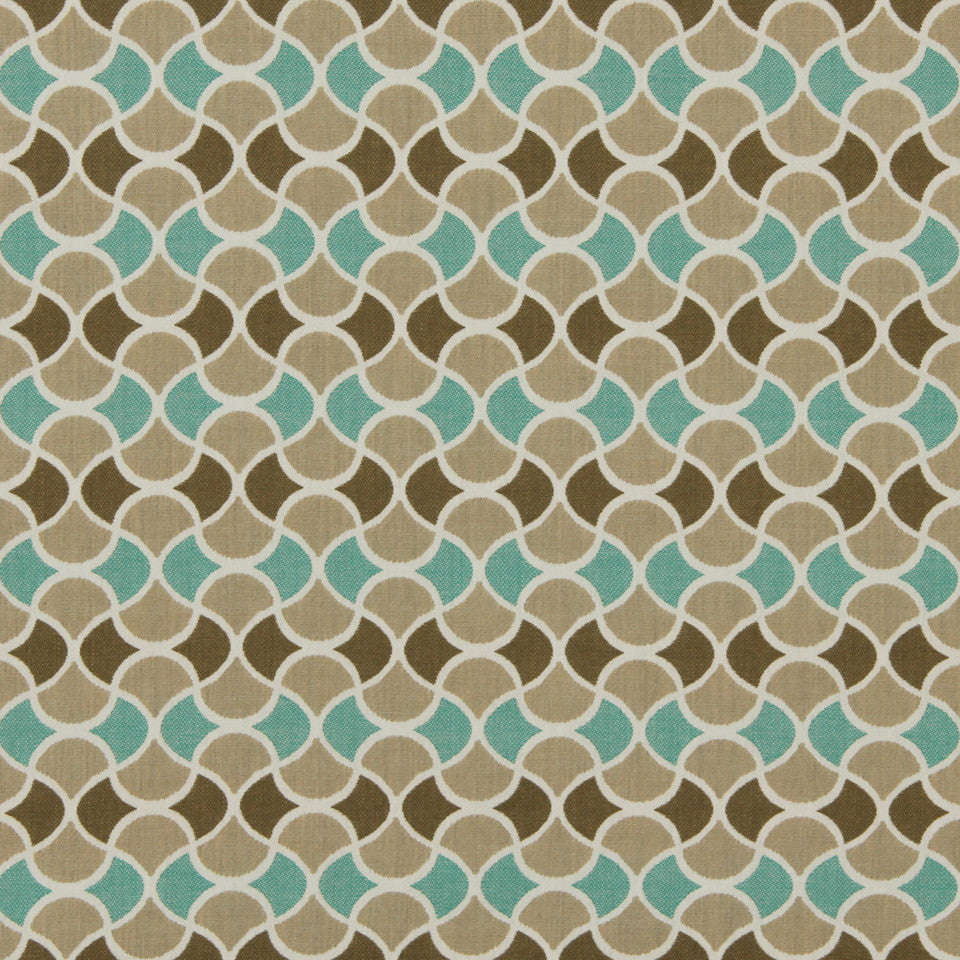 DWELLSTUDIO MODERN BUNGALOW Carrington Fabric - Turquoise