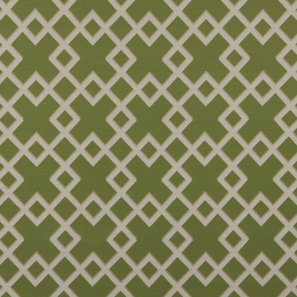 DWELLSTUDIO MODERN BUNGALOW Cross Lane Fabric - Lime