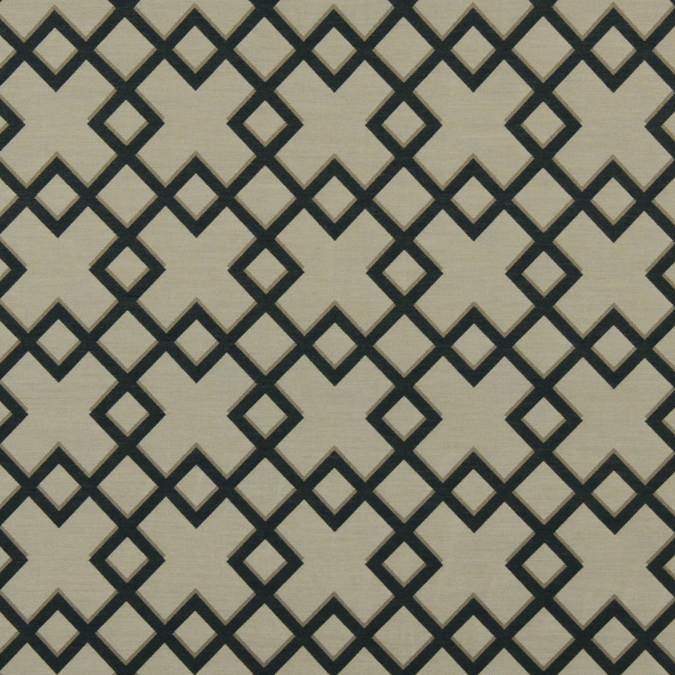 DWELLSTUDIO MODERN BUNGALOW Cross Lane Fabric - Navy