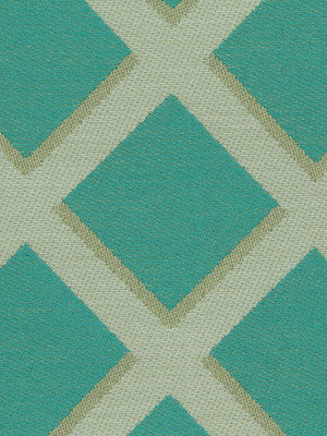 DWELLSTUDIO MODERN BUNGALOW Cross Lane Fabric - Turquoise