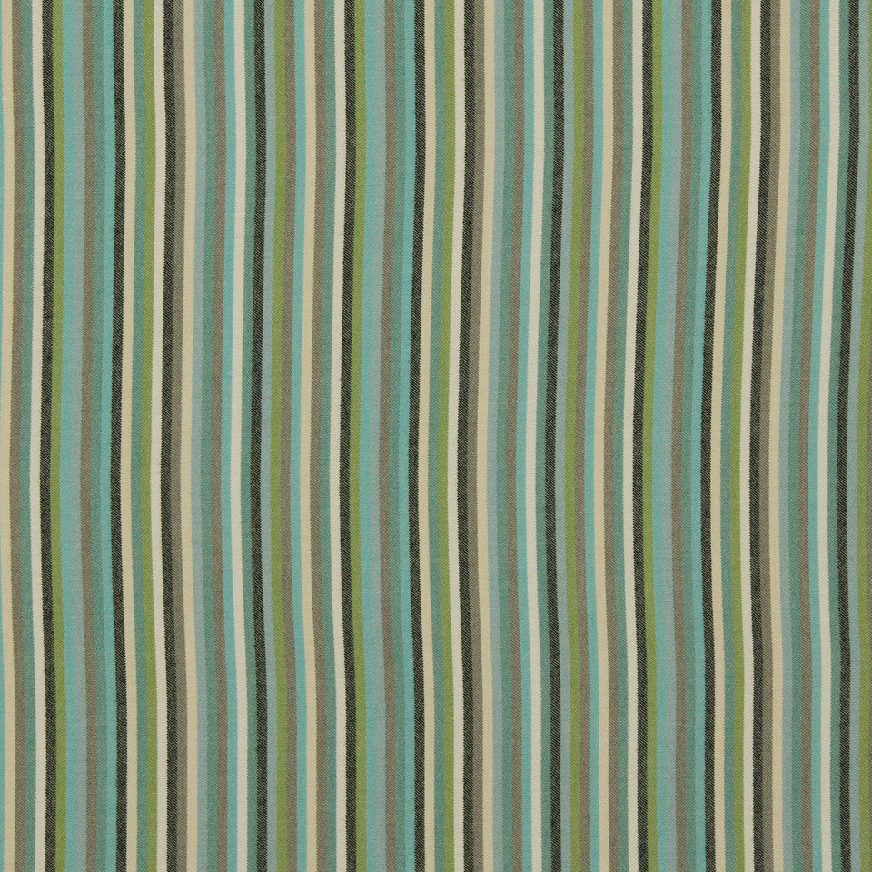 DWELLSTUDIO MODERN BUNGALOW Striped Affair Fabric - Lime
