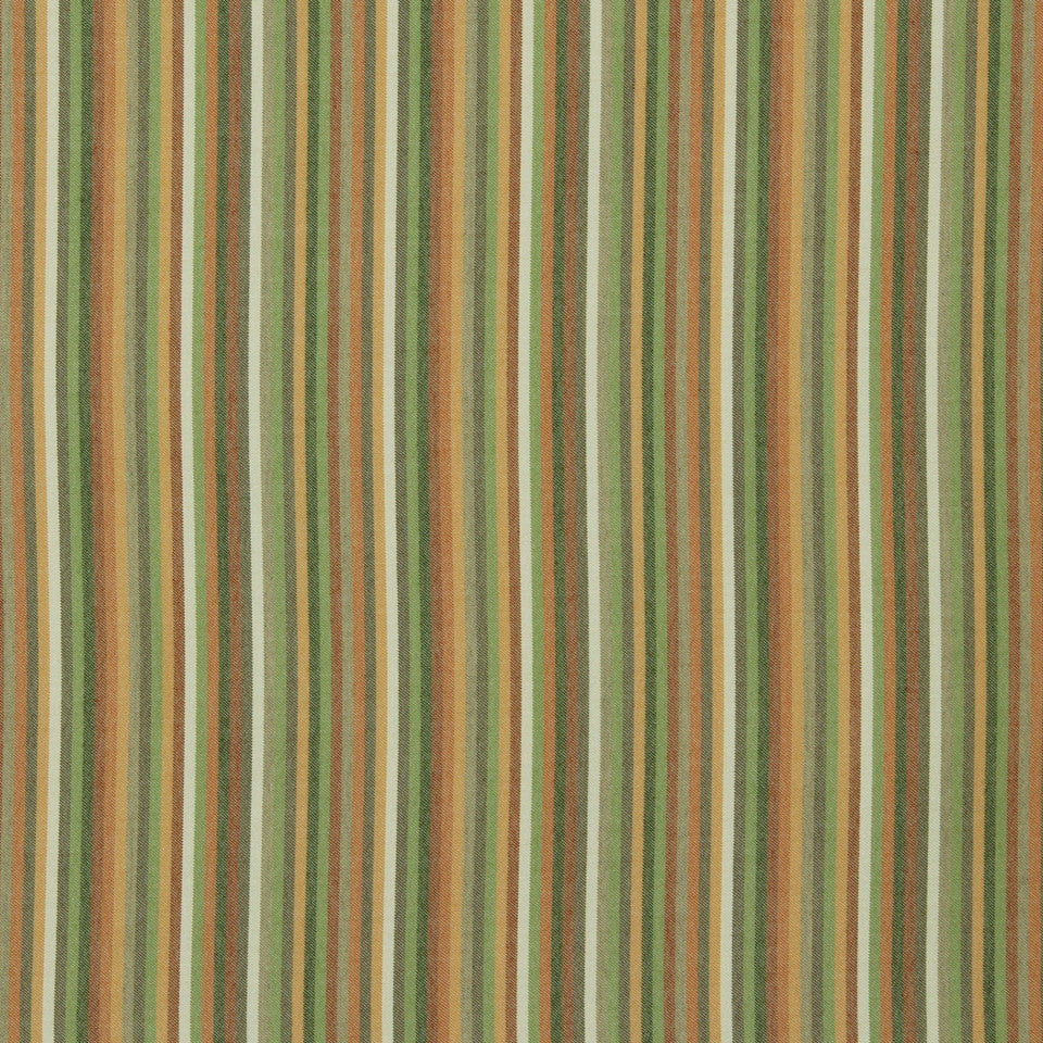 DWELLSTUDIO MODERN BUNGALOW Striped Affair Fabric - Tangerine