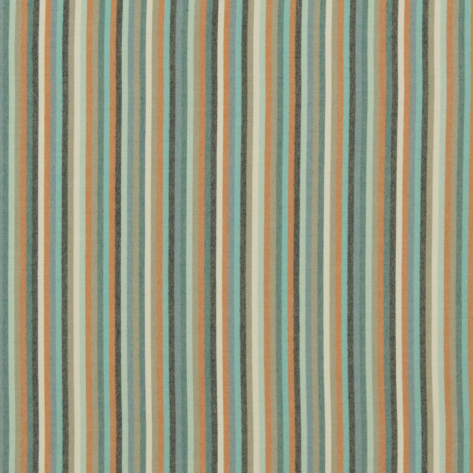 DWELLSTUDIO MODERN BUNGALOW Striped Affair Fabric - Turquoise