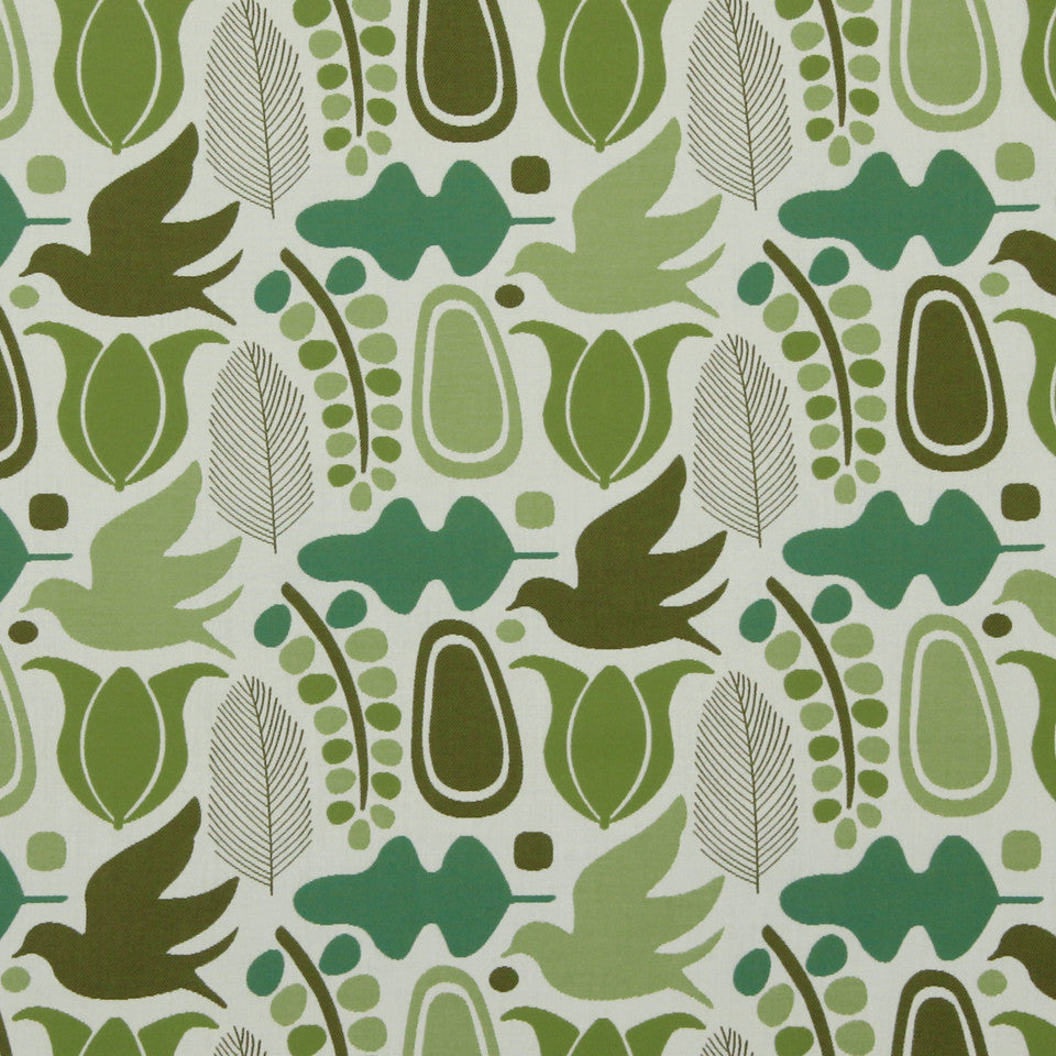 DWELLSTUDIO MODERN BUNGALOW Finmark Fabric - Lime