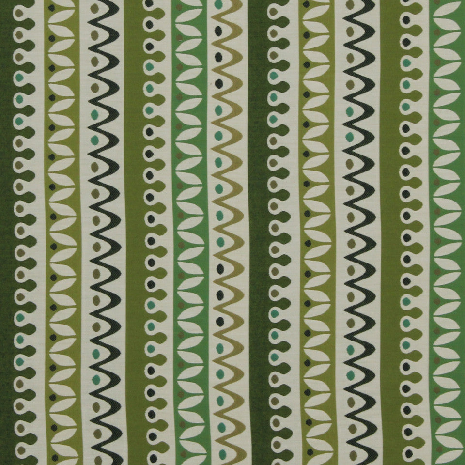 DWELLSTUDIO MODERN BUNGALOW Nordic Stripe Fabric - Lime