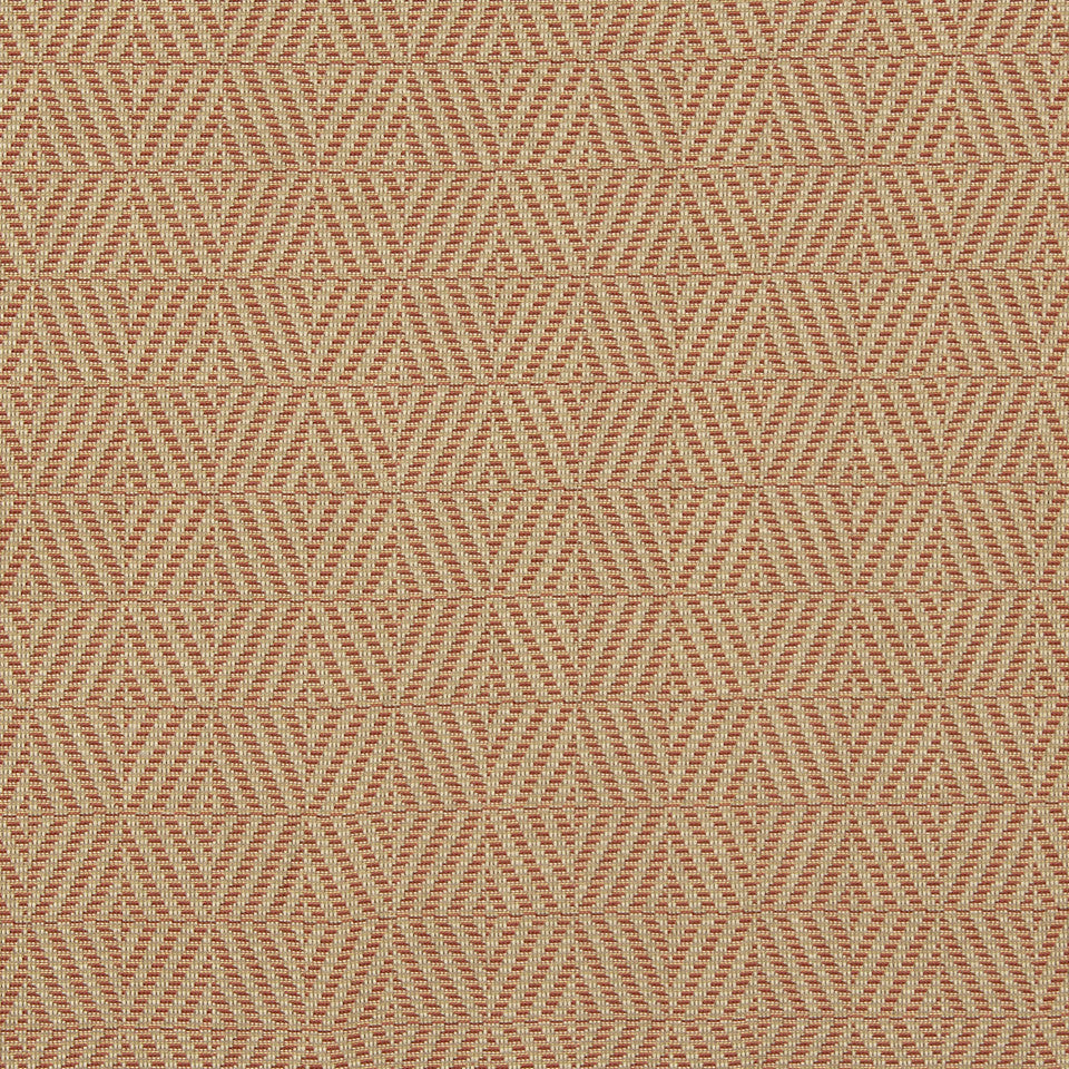 CORAL Woven Lattice Fabric - Coral