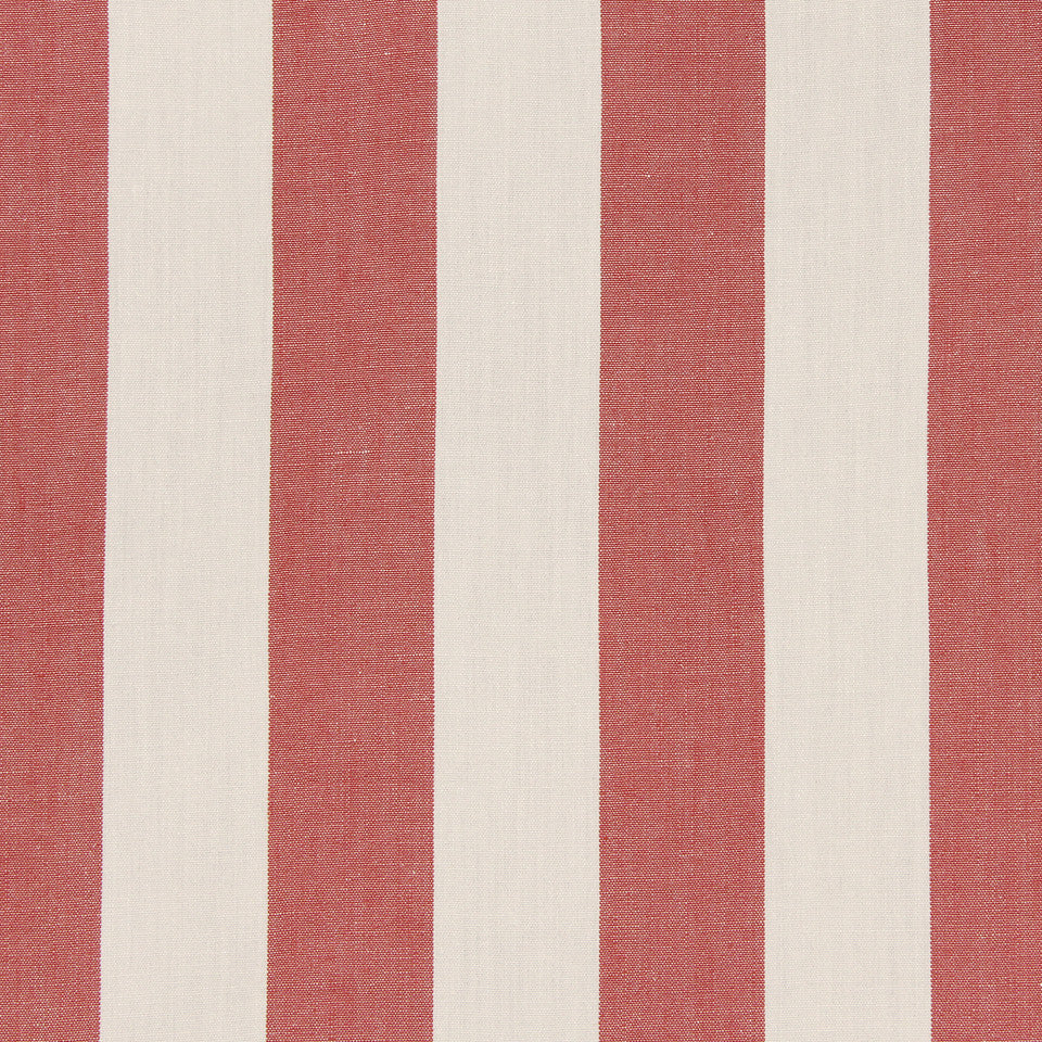 CORAL Linseed Stripe Fabric - Coral