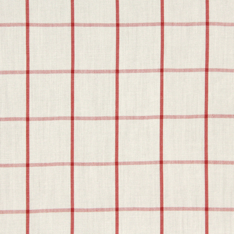 CORAL Linseed Plaid Fabric - Coral