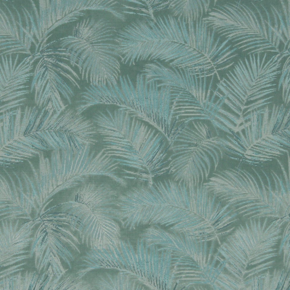 MINT Palm Velvet Fabric - Mint