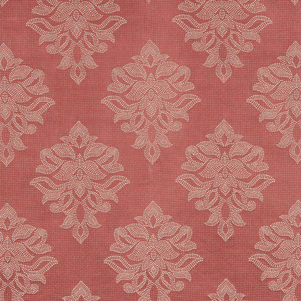 CORAL Sea Rose Fabric - Coral