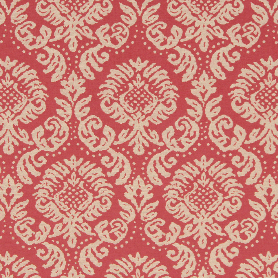 CORAL Anemone Frame Fabric - Coral