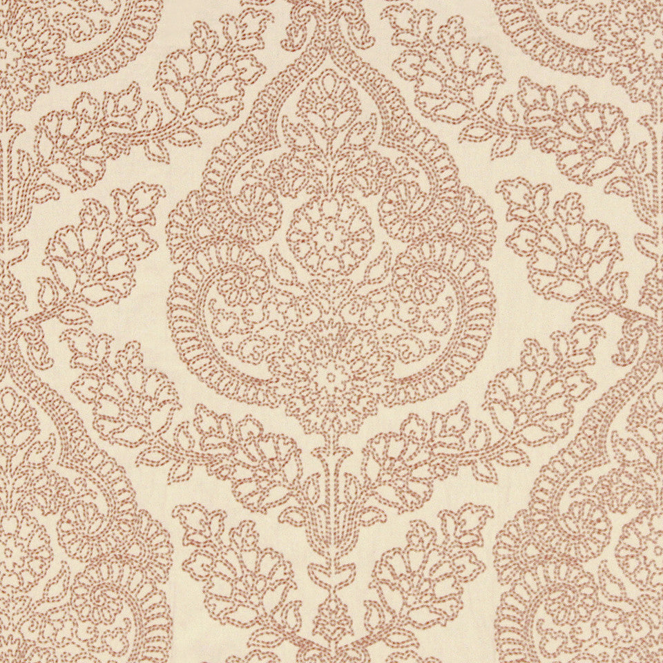 CORAL Pavonia Fabric - Coral