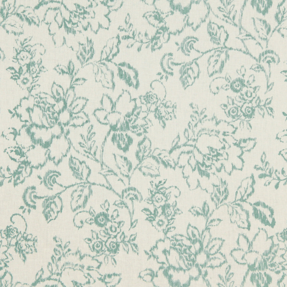 LEMONGRASS-DEW-CORNFLOWER Spring Air Fabric - Dew