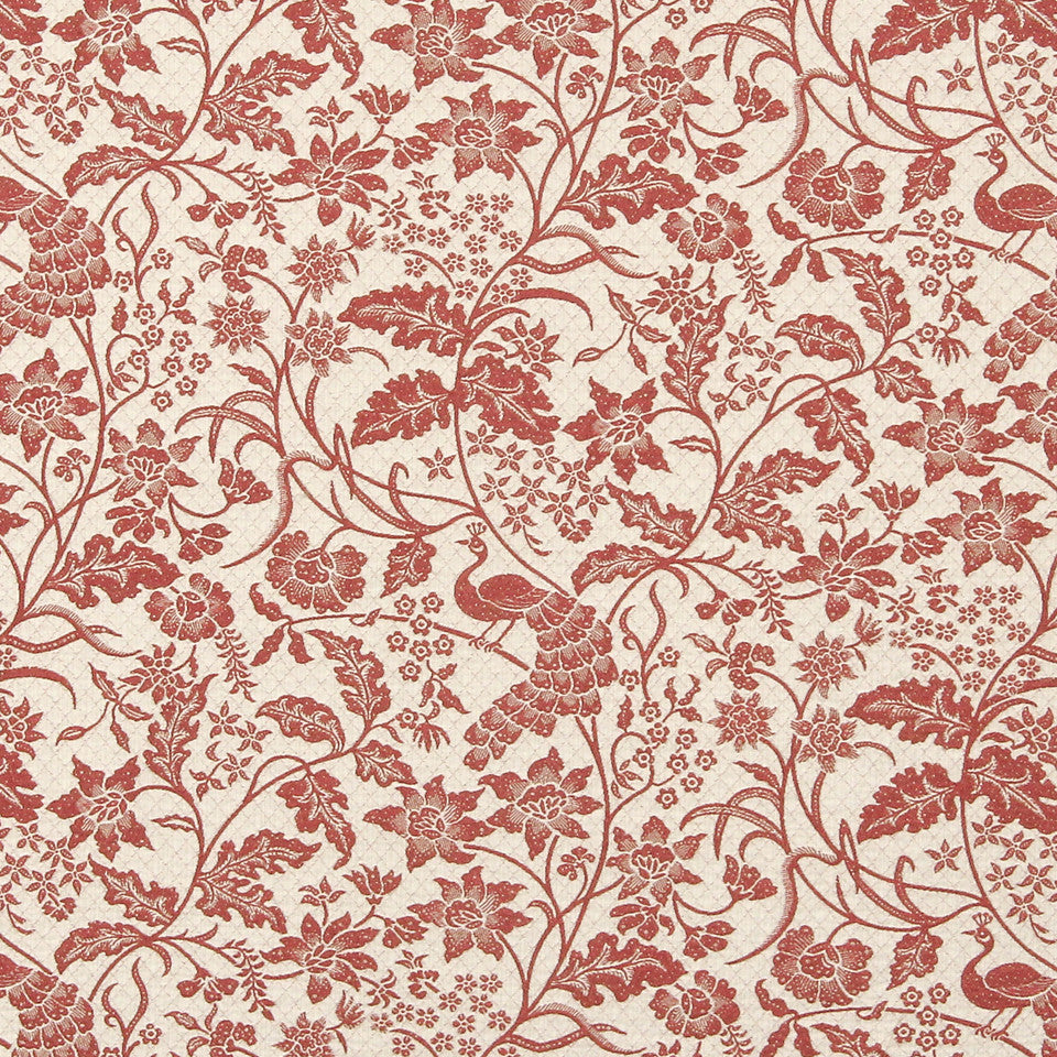 CORAL Java Bird Fabric - Coral